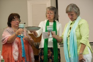 Ann Harrington presides at Stole Ceremony, Free Spirit Inclusive Catholic Community, Greenville, NC, 8/23/15
