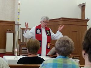ARCWP Bishop Mary Eileen Collingwood celebrates Pentecost, St. Bridget Catholic Community, Cleveland, OH, May 15, 2016