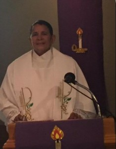 Ronnie Dubignon, ARCWP Deacon, preaching, Spirit of Life, MCC, Port Richey, FL, January 17, 2016