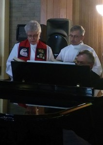 ARCWP members Mary Collingwood and Jim Marsh, Music Ministry , Ordination, Altamonte Springs, FL, January 30, 2016